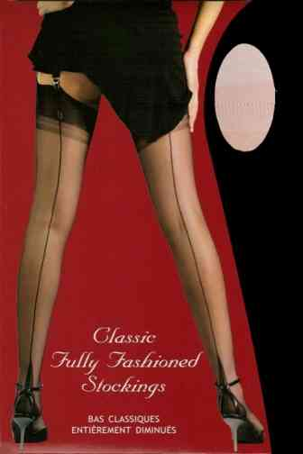 Gio Ivory Fully Fashioned Cuban Heel Stockings - www.gentlemansbutler.com