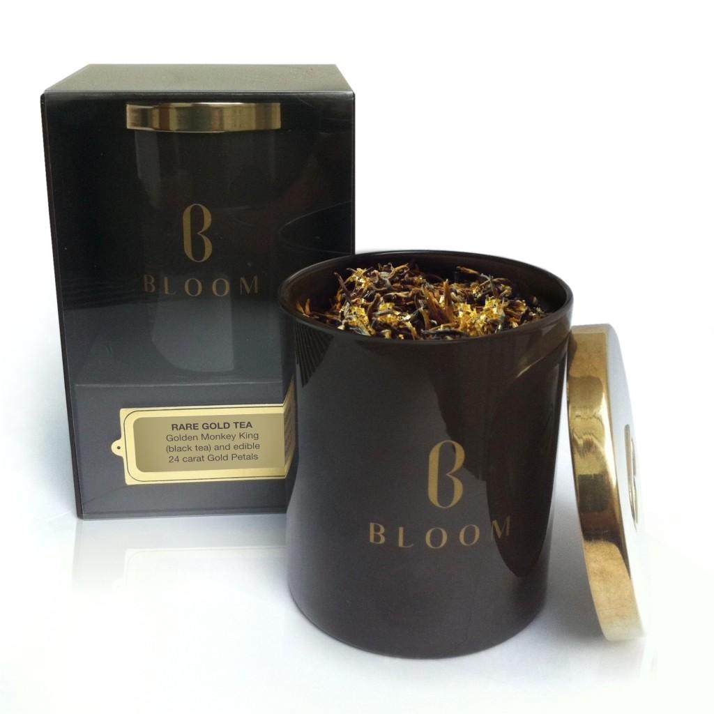 Luxury Gold Teas & Tea Caddie from Bloom - www.gentlemansbutler.com