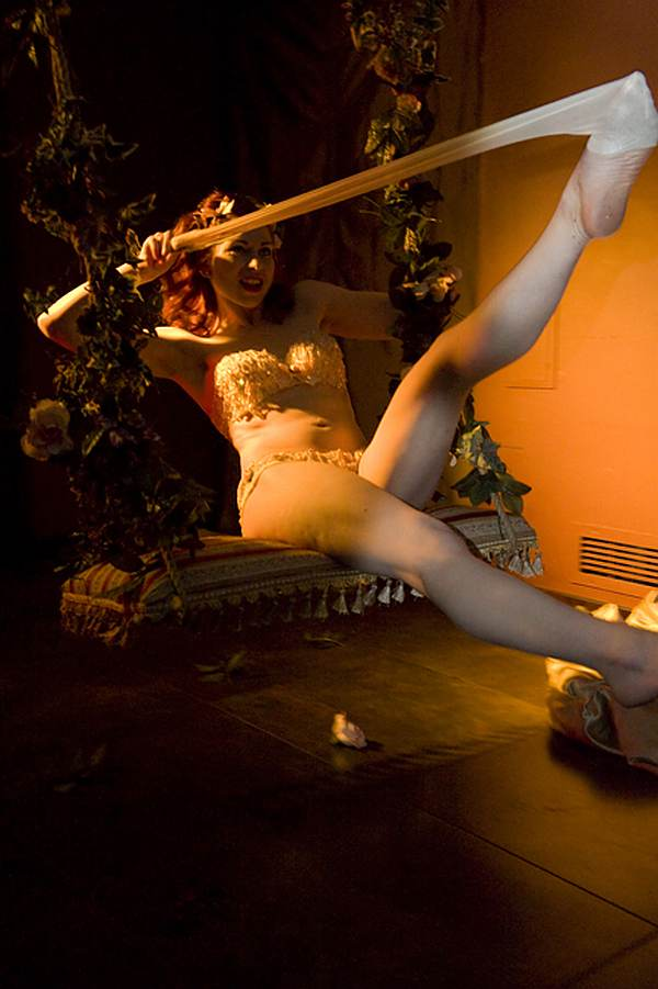 Gwendoline Lamour with silk stockings