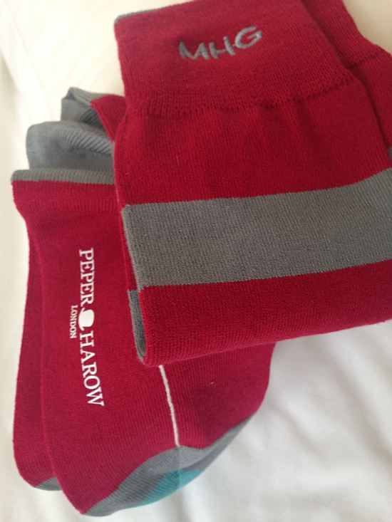 Peper Harow monogrammed socks