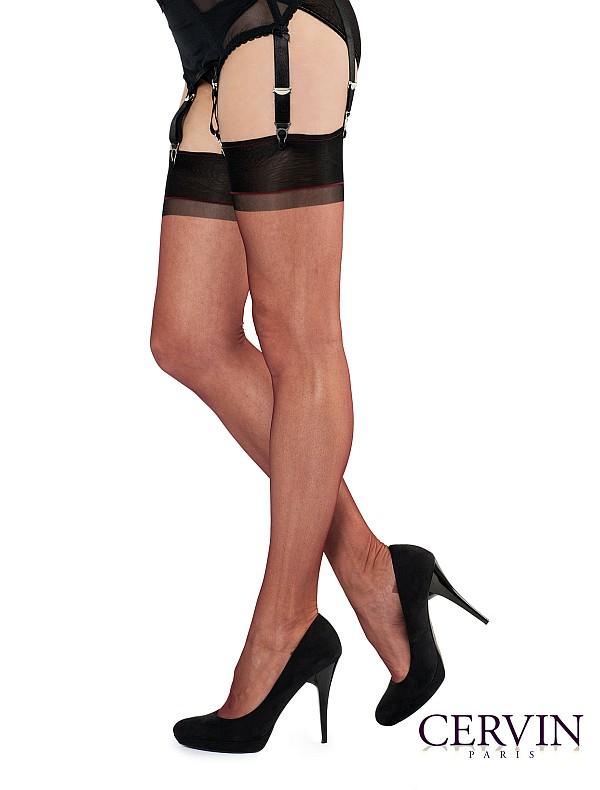 Cervin Stockings - Bi- colour - bordeaux