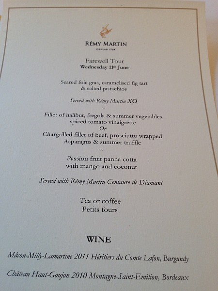 Remy Martin Summer lunch at 34 in Mayfair