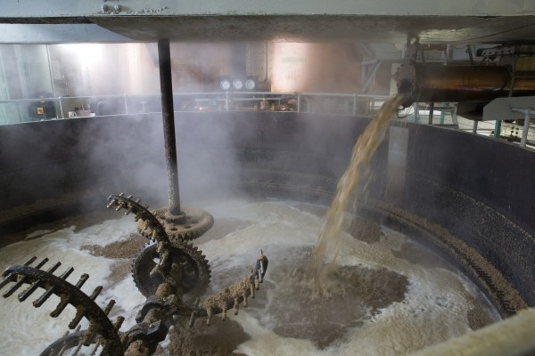 Bruichladdich - The process of Mashing is a hot one