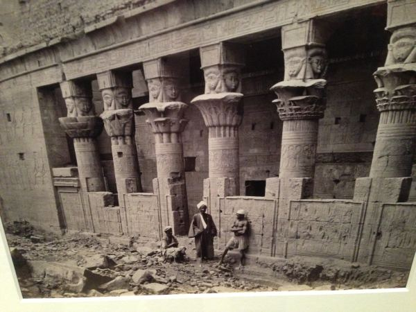 Isis-headed Columns in the Great Court of the Temple of Isis, Philae - Cairo to Constantinople - Queens Gallery, Buckingham Palace, London