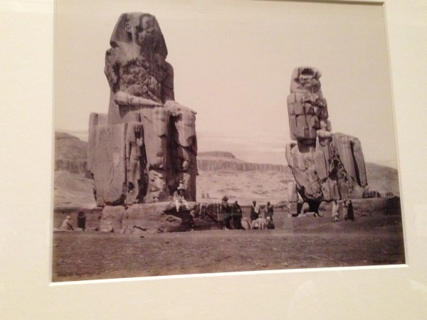 The Colossi of Memnon, Thebes, 1862 - Cairo to Constantinople - Queens Gallery, Buckingham Palace, London