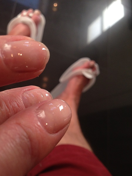 The Butler's nails and feet - Neville Hair and Beauty, 5 Pont Street, Belgravia, London SW1