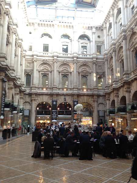 Inside The Royal Exchange Building, London