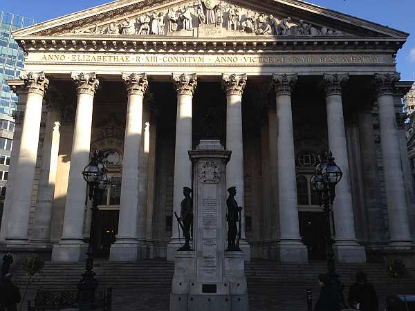 The Royal Exchange Building, City of London