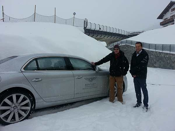 luxury chauffeur, luxury skiing, luxury bentley skiing, the best chauffeur in Austria, gentlemans butler