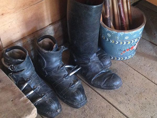 Lech, Museum, Leather Ski Boots