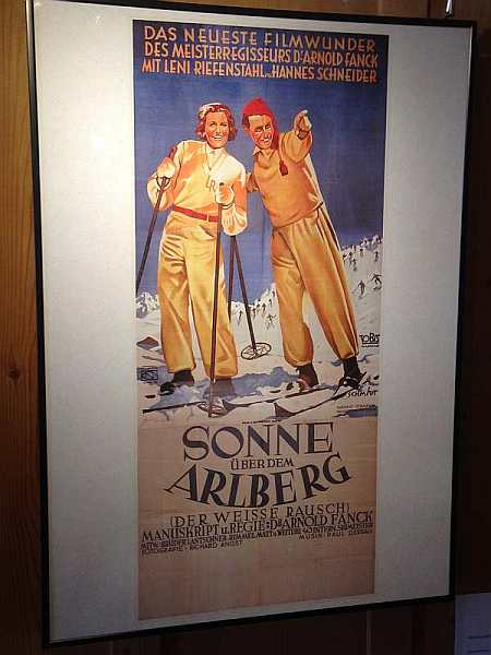 old ski posters, Lech, austria, archive, luxury