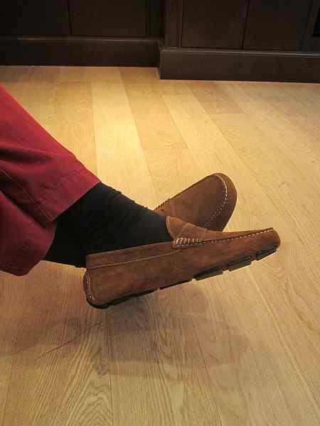 gentlemens luxury driving shoes