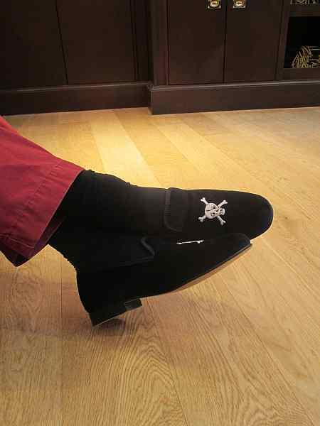 luxury gentlemens slippers
