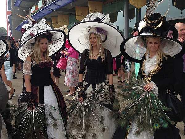 ladies day royal ascot, ladies in hats at royal ascot