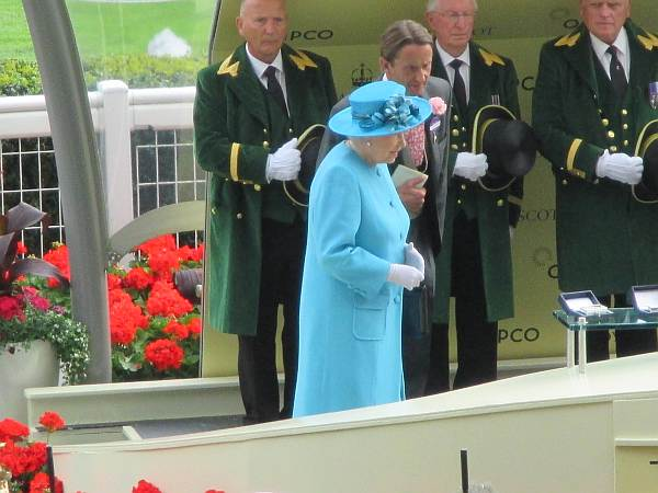 Winning riders presented to by Queen Elizabeth