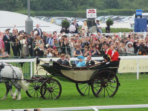The Royal Party, Royal Ascot, Queen Elizabeth in the Royal Carriage