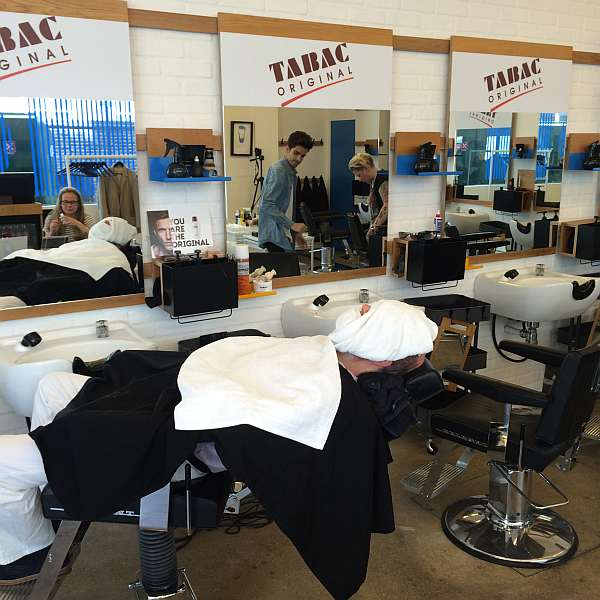 Tabac at Jo & Co - Under Towels having a real shave