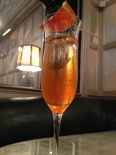 Connaught - Welcome Drink from Georgio..Orange Shrub, Champagne...