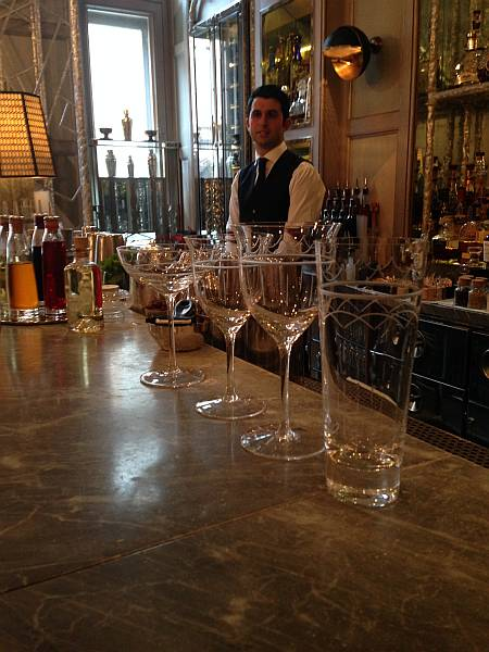 The Connaught Bar ....bespoke and elegant glassware