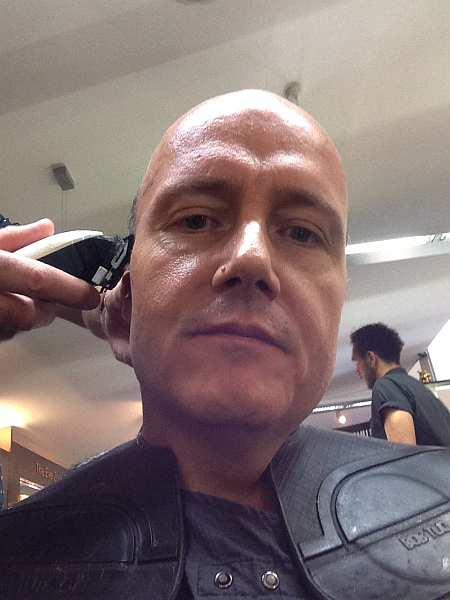 Harrods, London: Urban Retreat Hair Shave with Andre