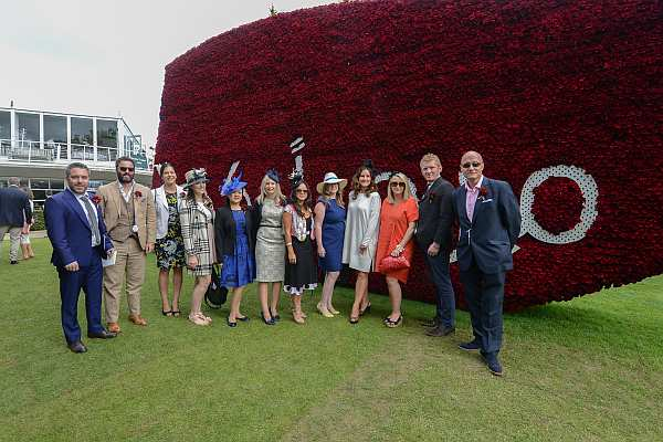 Glorious Goodwood - Gentlemans Butler, far right with colleagues in front of Qatari Colours