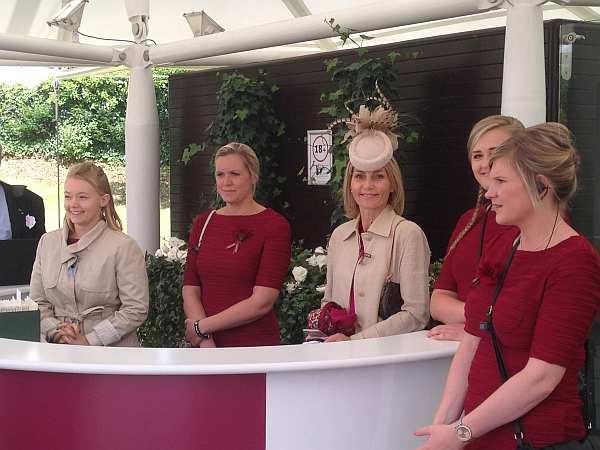 Glorious Goodwood - Qatari branding - welcoming ladies