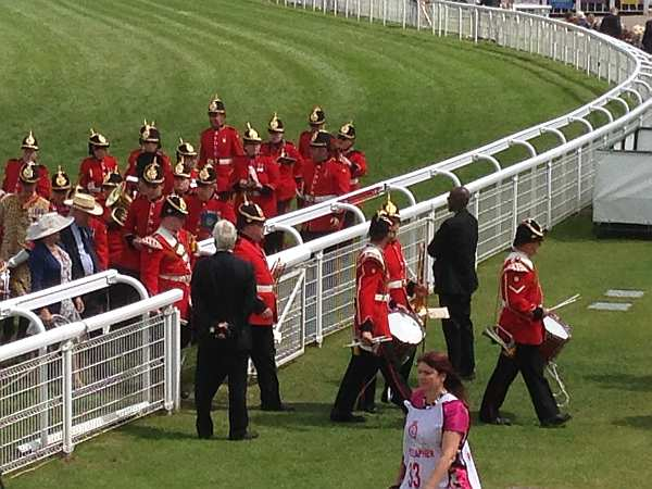 Glorious Goodwood - The Band in a queue... very British