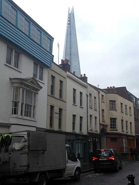 Old London meets New London: Bermondsey Street - View of Shard