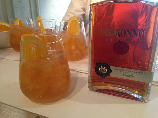 Disaronno cocktails being served at Fortnum & Mason