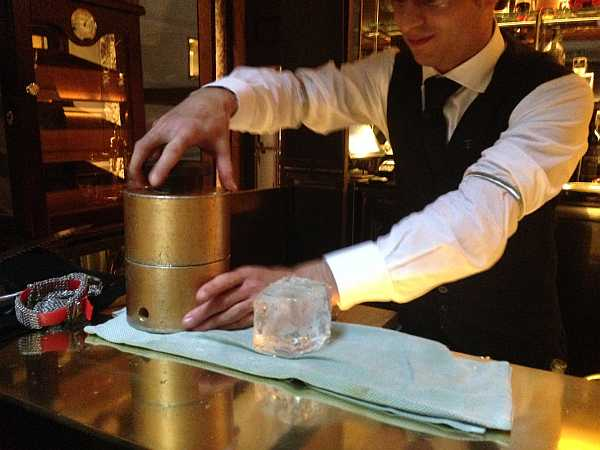 I need to make spherical ice cubes ... at The Connaught Hotel