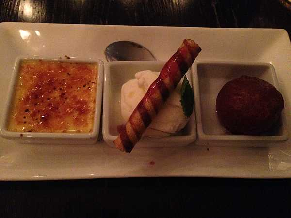India Dining, Warlingham - dessert... Homemade Gulub Jamun Ice Cream – Flavour Of The Month Passion Fruit Crème Brulee