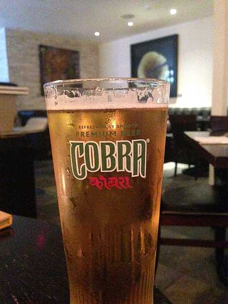 India Dining, Warlingham - Cobra Beer
