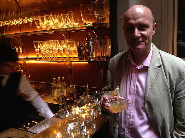 Michael Grenvile in The Champagne Room with the Rémy Martin at The Connaught Hotel...