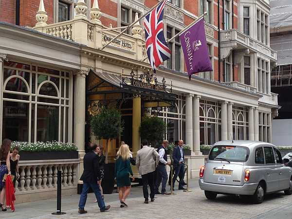 Outside The Connaught Hotel, Mayfair, London