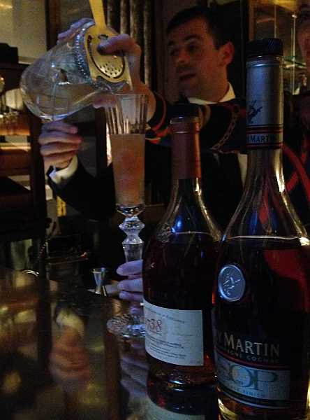 Rémy Martin being poured at The Connaught Hotel