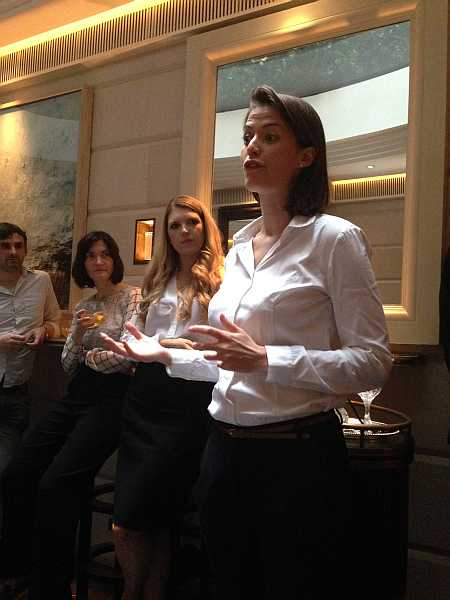 Anne-Laure Pressat, Brand Manager for Rémy Martin setting the scene