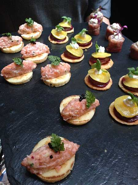 The Nibbles courtesy of The Connaught Hotel in The Champagne room