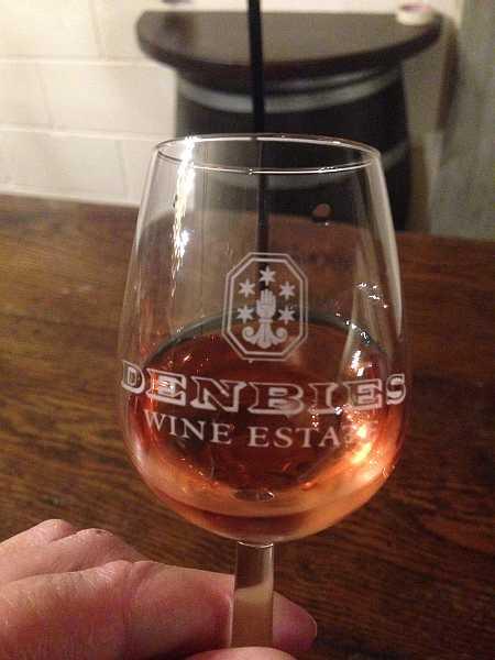 Denbies Wine Estate, Surrey, England - Wine tasting in the cellars