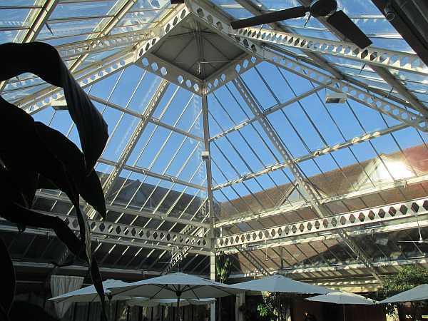 Denbies Wine Estate, Surrey, England - View from the atrium cafe/restaurant