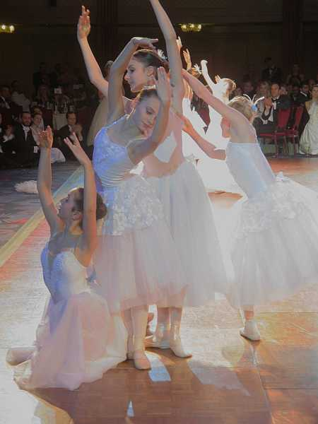 3rd Russian Debutante Ball - Ballerinas making shapes, tres chic