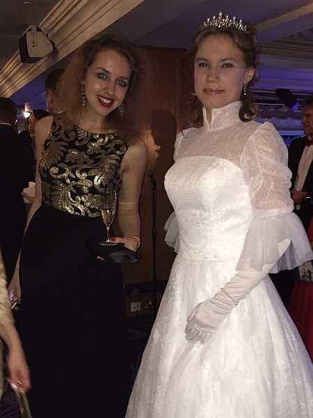 3rd Russian Debutante Ball - Debutantes & Friend having a chat