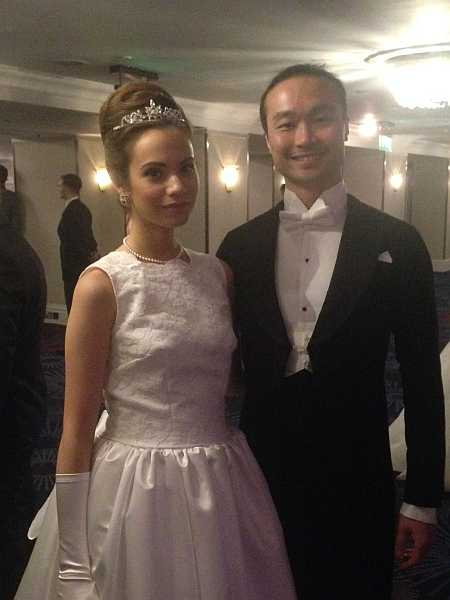 3rd Russian Debutante Ball - Debutantes & Gentleman during pre dinner drinks