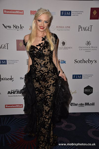 Lana Holloway at The 3rd Russian Debutante Ball, London: Looking idyllic wearing diamonds by Piaget and an evening gown by couture label Si Fashion Galerie, especially flown over from Dubai