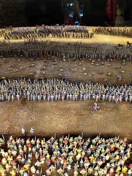 Model of Archers -- The Battle of Agincourt 600th Anniversary Exhibition