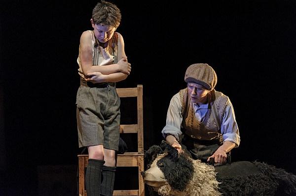Alex Taylor-McDowall and Elisa de Grey in Goodnight Mister Tom 2015 - Credit Dan Tsantilis