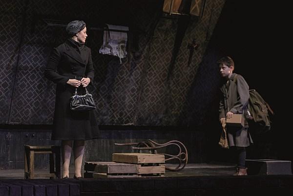 Melle Stewart and Alex Taylor-McDowall in Goodnight Mister Tom 2015 - Credit Dan Tsantilis