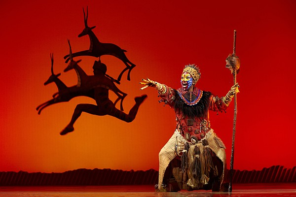 Disney's The Lion King at the Lyceum Theatre, London. Photo by Brinkoff and Mogenburg