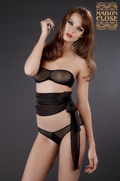 Maison Close Music Hall bra and belt. Feminine, erotic luxury lingerie