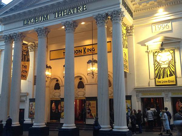 The Lion King in London at The Lyceum Theatre