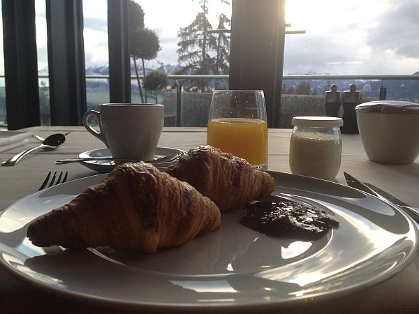 Breakfast croissants at The Crans Ambassador in Crans- Montana, Switzerland